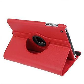 لباد مصغرة 1 / 2 / 3 حالة، دائم غطاء جلدي عالي الجودة، أحمر