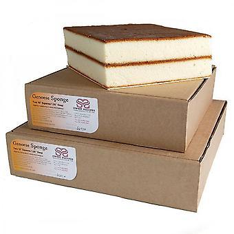 Makea menestys vanilja Genoese sieni kakku-neliö-8