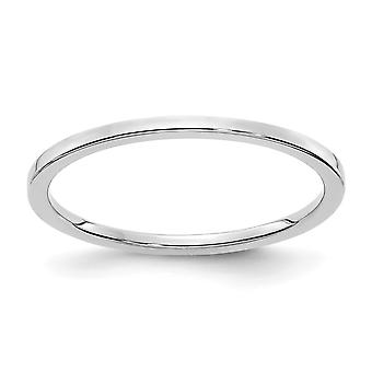 10kw 1.2mm Flat Stackable Band Ring Jewelry Gifts for Women - Ring Size: 4 to 10