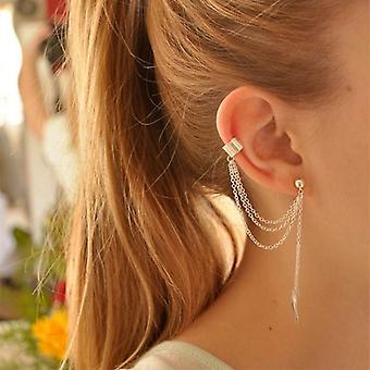 Silber Knorpel zu Lobe Ohrringe für Frauen