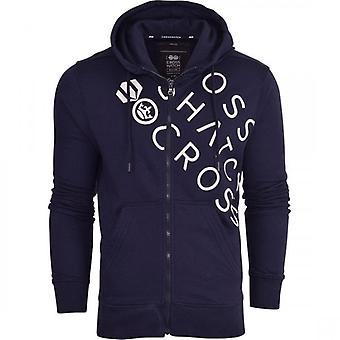 Hachura de moletom com capuz simples Zip completo através do casaco Pullover Jumper moletom com zíper