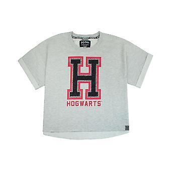 Harry Potter Hogwarts Alumni Womens/Ladies Cropped T-Shirt