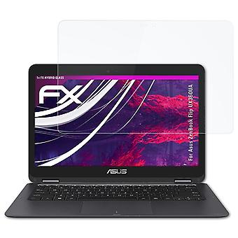 atFoliX Glass Protector compatible with Asus ZenBook Flip UX360UA 9H Hybrid-Glass