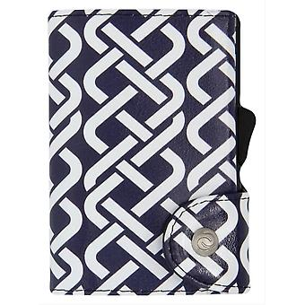 C-Secure Tribe Print Single Card Holder Wallet - Black/White