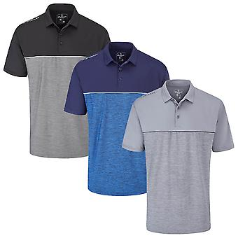 Stuburt Golf Mens 2020 Evolve Middleton Lightweight Stripe Golf Polo Shirt