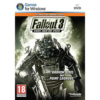 Fallout 3 Game Add-On Pack - Broken Steel and Point Lookout PC DVD Game