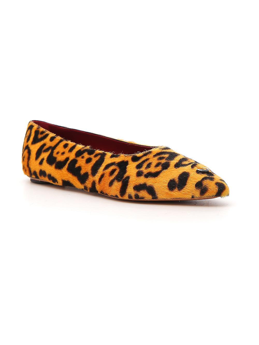 Marni Bams001300lv84600y65 Dames's Leopard Leather Flats uanBpa