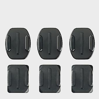 New Go Pro Curved And Flat Adhesive Mounts Action Camera Black