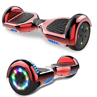 Scelta giusta Hoverboard Self Balanced Electric Scooter - built in altoparlanti Bluetooth - LED Wheel-Chrome rosso