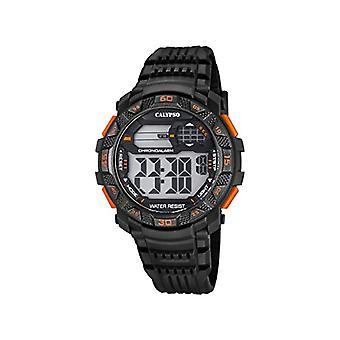 Calypso-digitaal horloge, met digitale LCD-scherm en kunststof Straps, kleur: zwart, 6 K5702