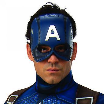 Capitan America Adulto Costume Mezza Maschera