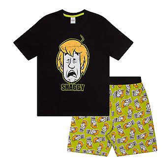 Scooby Doo Shaggy Mystery Machine Official Mens Loungewear Retro Short Pyjamas