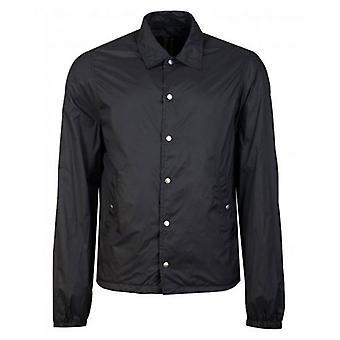 Rick Owens Drk Shdw Snapfront Back Print Jacket