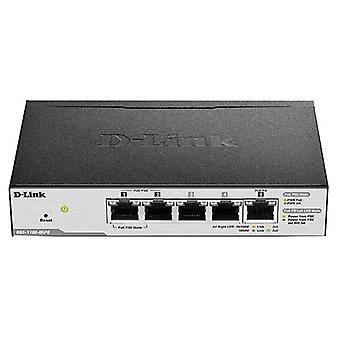 Cabinet switch d-link easy smart dgs-1100-05pd 5 puertos rj45 10 gbit/s