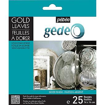 Pebeo Gedeo Silver Gilding Leaves 25 Pack
