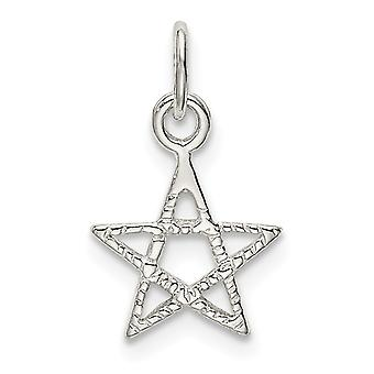 925 Sterling Silver Star Charm Pendant Necklace Jewelry Gifts for Women - .4 Grams