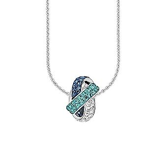 Amor - Swarovski Elements crystal pendant necklace - silver 925 rhodiato - multicolored - 45 cm - 466479
