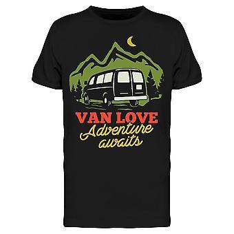 Van Love Adventure väntar Tee Men & apos; s -Bild av Shutterstock
