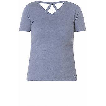 Yest Blue Fine Striped T-Shirt