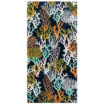 Slowtide Rainbow Reef Beach Towel in Navy