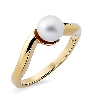Orphelia Silver 925 Ring with Fresh water Pearl Gold plated