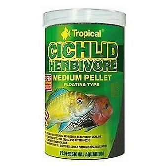 Tropical 60865 Pellets Ciclidos Herbivoros M 500 ml (Fish , Food , Warm Water)