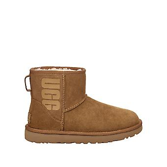 Ugg Women's Classic Mini Boots Suede Camel