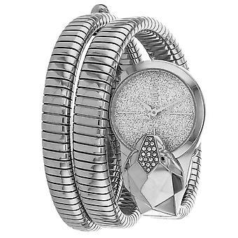 Just Cavalli Women's Glam Snake Silver Dial Watch - JC1L114M0015