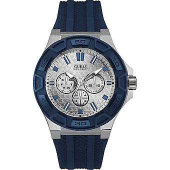 Guess U0674G4 Force Multi-Functions Dial Navy Blue Band Men's Watch