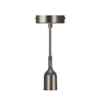 Lampada A Sospensione Pendel Bell Colore Grigio in Platica, Metallo, Tessuto, L10xP10xA163 cm