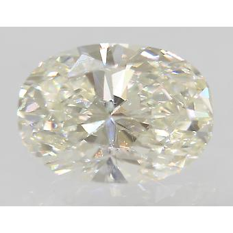 Certified 0.70 Carat H Color VVS1 Oval Enhanced Natural Diamond 6.6x4.78mm 2VG