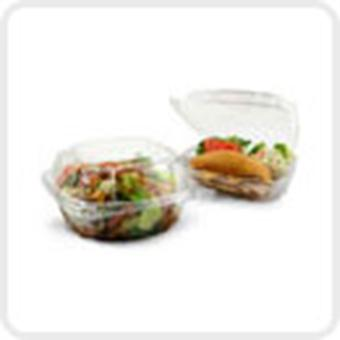 Dart Clear Seal Plastic Hinged Salad Takeaway Bowl 500cc