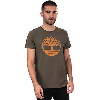 Męska koszulka z logo Timberland Brand Tree w kolorze zielonym