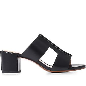 Staccato Femmes Bloc Heel Cuir Mule Sandale