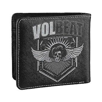 Volbeat Wallet Skull Wings Band Logo new Official Black Bifold