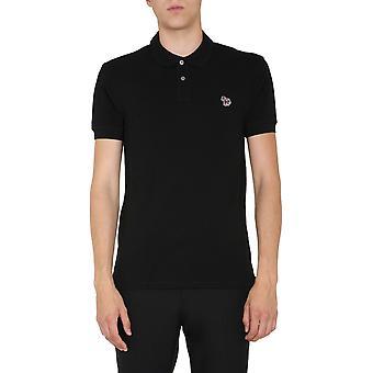 Ps By Paul Smith M2r534lazebra79 Men's Black Cotton Polo Shirt
