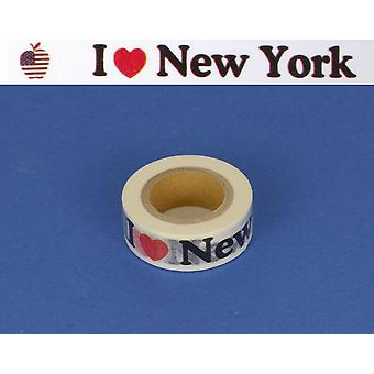 15m New York Self Adhesive Washi Tape 15mm Breed voor Card Making Scrapbooking