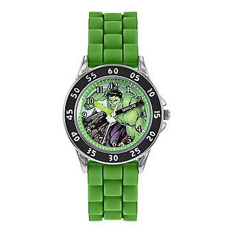 Lapset&s Marvel Avengers Hulk Vihreä analoginen kello