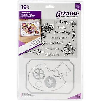 Gemini Primrose Corner Photo Frame Stamp & Muere