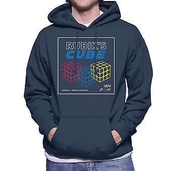 Rubik's Power To The Player Retro Men's Hooded Sweatshirt
