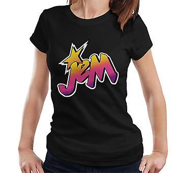 Jem och hologram classic blekt logo kvinnor' s T-shirt