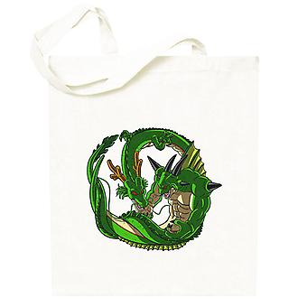 Dragon Ball Shenron Versus Porunga Totebag