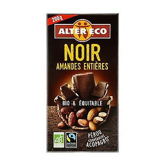 Dark chocolate with organic whole almonds 200 g