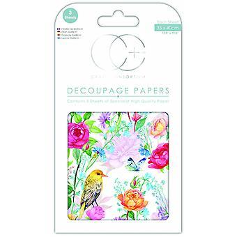 Craft Consortium Garden ilahduttaa Decoupage-papereita