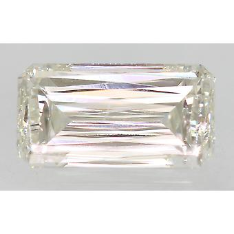 Certified 0.88 Carat G VVS1 Emerald Enhanced Natural Loose Diamond 7.48x3.94mm