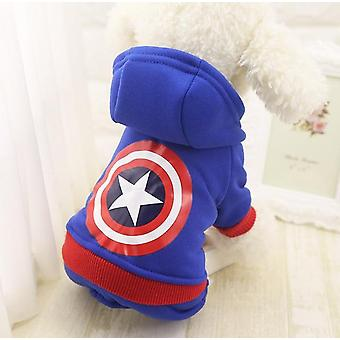 Winter Warm Pet Dog Clothes Soft Cotton Four Legs Hoodies Outfit For Small Dogs