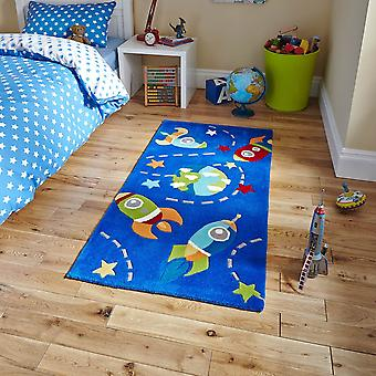 Think Kids 6149 Blue  Rectangle Rugs Kids Rugs
