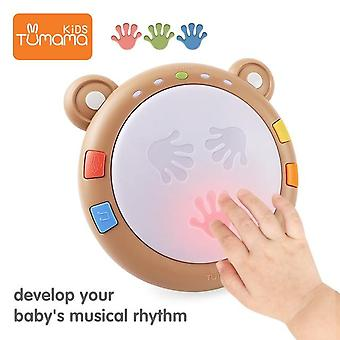 Hand Drums Children Musical Instruments Pat Drum Toys 6-12 Months