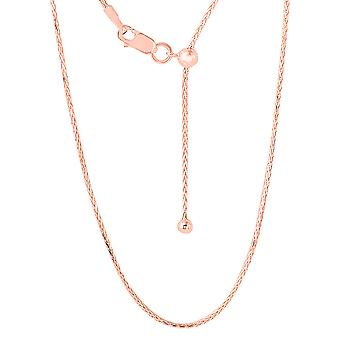 TJC Slider Chain Necklace for Women Rose Gold Plated Sterling Silver Size 24""