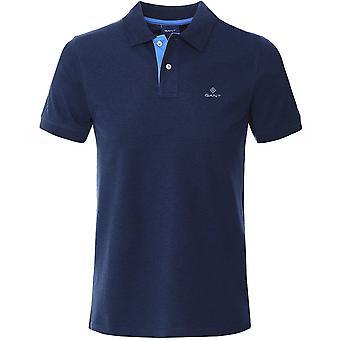 GANT التباين طوق بولو قميص